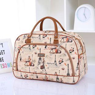 包邮新款大容量旅行包女男手提行李包PU皮旅行袋韩版短途旅游包潮