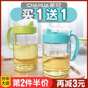 茶花油壶玻璃防漏厨房用品装塑料油罐酱油瓶醋瓶醋壶大号小号油瓶