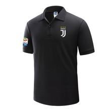 夏t恤足球训练运动衣服夏 尤文图斯C罗尤文意甲队服男装 运动Polo衫