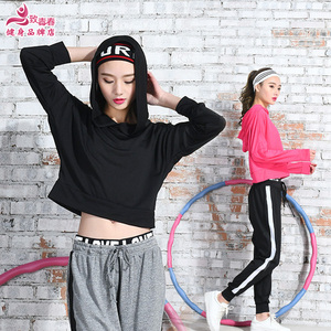 大码跑步运动套装女春夏季速干镂空显瘦晨跑宽松罩衫健身房瑜伽服瑜伽服