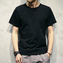 男士短袖纯色修身简单空白运动透气潮流休闲T恤半袖打底衫体恤男