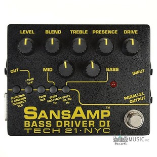 Tech 21 SansAmp Bass Driver DI v2 贝斯 专用 DI 单块效果器
