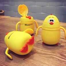 儿童水杯家用夏季宝宝喝水杯子带吸管杯幼儿园随手杯防摔可爱卡通
