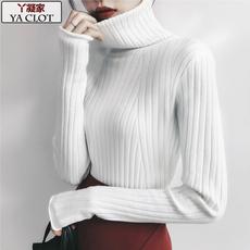 秋冬季高领针织打底衫女2017韩版百搭修身加厚中长款长袖套头毛衣