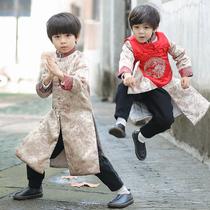 男童唐装宝宝拜年服冬儿童汉服童装中国风新年装小孩过年喜庆衣服