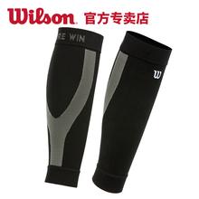 袜护套 Wilson威尔胜护小腿篮球足球运动护具压缩跑步护腿薄男女裤