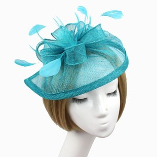 Stylish Feather Headband Fascinator Hats Ball Victorian Styl