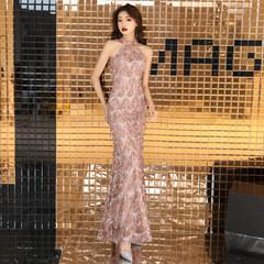 名媛宴会晚礼服女2018新款高贵高端鱼尾性感气质年会礼服裙女长款
