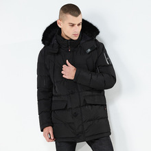 Men's Down Garments Men&39; s thick down coats long jacket casual Hooded