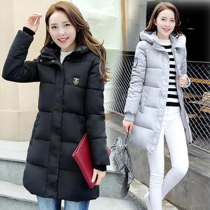 特价新款韩版女装棉衣女中长款连帽修身羽绒棉服大码棉袄加厚外套女士棉衣
