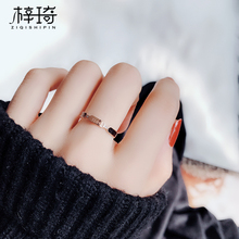 Cold Titanium Steel Index Finger Ring Female Black Fashion Ring