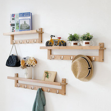 新中式北欧现代简约创意搁板挂架装 饰家居玄关客厅衣帽架墙上挂钩