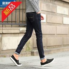 广州牛仔裤2017新款四季款男式牛仔长裤修身弹力小直筒牛仔裤男裤