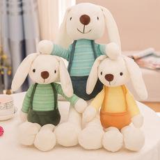 韩国可爱卡通垂耳兔公仔睡眠玩偶安抚软妹小兔子毛绒娃娃儿童玩具