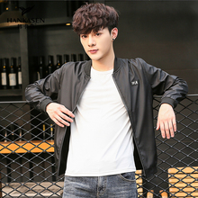 Fall thin men's jacket Korean version of body-building trend handsome jacket 2019 new leisure baseball clothes spring and Autumn