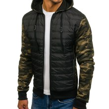 ZOGAA Jacket Men Parkas Outerwear Military Camouflage Hooded