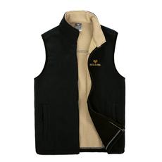瑕疵清货 户外加厚男款抓绒衣保暖马甲 开衫背心