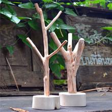 泰国实木饰品架公主风耳环项链展示架挂钥匙架创意摆件树杈挂件架