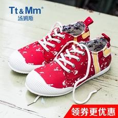 TtMm汤姆斯春夏新款女士时尚韩版学生休闲系带帆布鞋街头炫酷布鞋