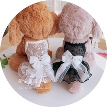 New lace breathable fairy dress in spring and summer Teddy Bear Yorkshire pet dog dress skirt
