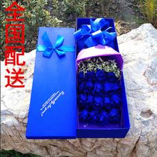 情人节蓝色妖姬蓝玫瑰礼盒常熟上海广州北京杭州苏州全国鲜花速递