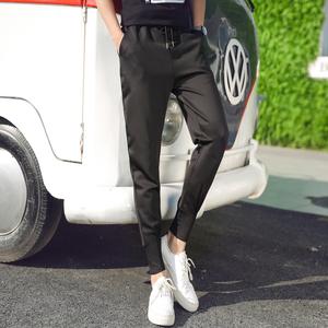 秋季运动裤男青少年小哈伦长裤男收口显瘦小脚裤子男韩版潮流