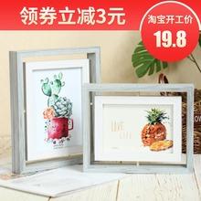 旋转相框免费洗照片创意摆台 包邮 饰品摆件个性 创意家居六七67寸
