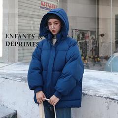棉服oversize女短款2018新款棉衣学生ins面包服厚棉袄冬季外套潮