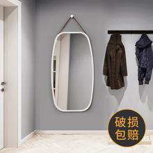 欧式贴墙方形镜子壁挂穿衣镜门厅全身镜试衣镜子落地镜半身镜挂镜
