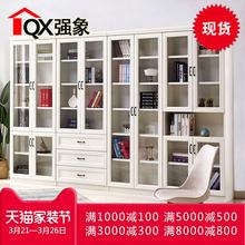 欧式自由组合书柜书架简约现代带门柜子储物柜多功能文件柜F 206