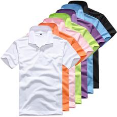 2015夏款男式翻领短袖纯色T恤男T恤黑白多色宽松个性短袖男t恤