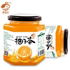 [收藏送木勺]常柚乐蜂蜜柚子茶460g*2罐 风味水果茶蜂蜜茶冲饮品