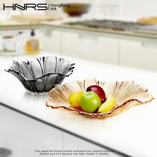水果盘创意 欧式水晶玻璃 现代客厅糖果盘瓜子零食盒干果盘水果篮