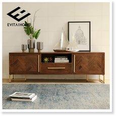 美式loft工业风电视柜茶几组合后现代卧室家具简约客厅设计师柜子