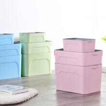 收纳箱塑料特大号衣服储蓄储物箱玩具整理箱有盖收纳盒清仓三件套
