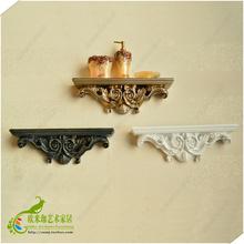 欧式创意家居树脂隔板书架子浴室墙上置物架一字搁板壁挂装 饰热销
