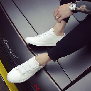 白色鞋子男韩版潮流百搭潮鞋男士休闲鞋夏季男鞋透气懒豆豆鞋男
