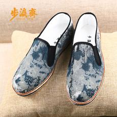 步瀛斋秋季老北京布鞋男中年休闲防臭透气千层底布鞋