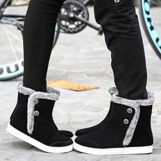 冬季韩版情侣款雪地靴男女加绒高帮鞋棉靴男学生棉鞋潮流短靴子男