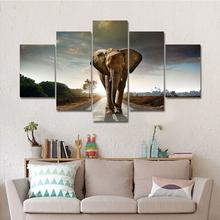饰品热销产品 多联装 饰画大象动物高清喷绘油画客厅卧室家居装
