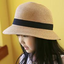 男女童草帽亲子款 遮阳帽女士草编沙滩帽子中小儿童凉帽太阳帽海边