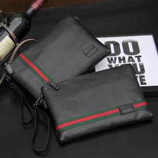 男士手拿包商务休闲男包手包时尚潮男韩版信封包大容量手抓包夹包