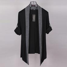 男装 薄款 外套潮流日韩版 休闲上衣外搭夏季修身 长袖 无扣开衫 针织衫