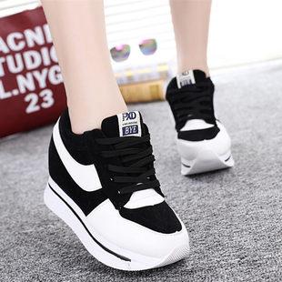 2016春季新款韩版帆布鞋女鞋系带休闲鞋单鞋内增高运动鞋夏天鞋子