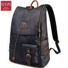 佑一良品休闲双肩包男士背包包韩版潮男包电脑包时尚旅行包运动包
