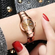 正品钨钢手表女表时尚款潮流石英表防水韩版简约女士手表2018新款