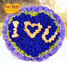 99朵蓝色妖姬玫瑰花束鲜花速递北京上海广州深圳合肥南京成都同城