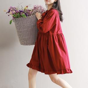 孕妇装春装孕妇连衣裙中长款韩版时尚系带A字娃娃裙孕妇裙子上衣孕妇连衣裙