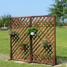 加厚 网格花架 网片 爬藤架 碳化防腐木栅栏 木篱笆 木围栏护栏