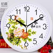 康巴丝14英寸时尚 简约挂钟卧室客厅办公静音时钟挂表创意石英钟表